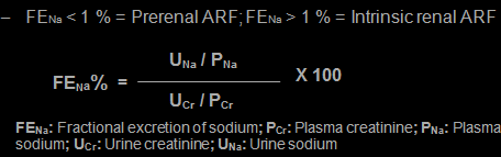 Fractional excretion of sodium